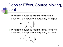 92 doppler effect source moving consider the source being in motion while the observer is 94 93