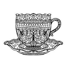 vintage tea cups vector. Wonderful Tea Vector  Vintage Tea Cup Icon Vector Inside Tea Cups