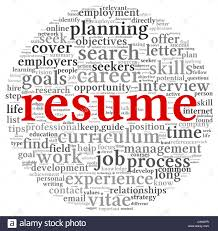 resume concept in word tag cloud on white background stock photo resume concept in word tag cloud on white background
