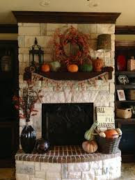 Fall Mantels And White Mantel On Pinterest Autumn Halloween Home Decor  Fireplace Mantle Ideas By I Heart Shabby Chic