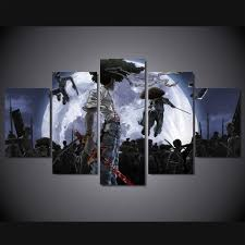 <b>HD Print 5</b> pieces Afro Samurai poster <b>canvas</b> painting for children ...