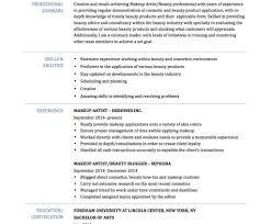 makeup artist objective resume sle skills job make freelance sle objective for resume