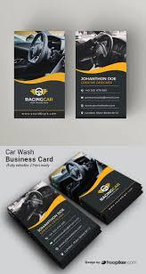 Car Wash Visiting Card Design Freepiker Car Wash Business Card With Orange Elements