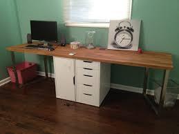 metal office desks. Modern Green Wall Wood With Metal Office Desks Wooden Table On The Floor Can