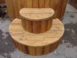 ✓ versandkostenfrei ab 50€ ✓ 30 tage rückgaberecht. Wood Stairs For Hot Tub Wooden Hot Tubs And Barrel Saunas