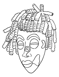 Small Picture African mask coloring page Download Free African mask coloring