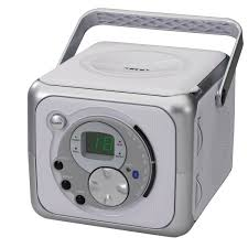 jensen cd555 silver portable bluetooth system with cd