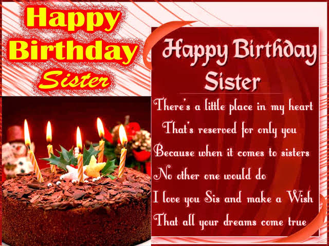 happy birthday sms in hindi for sister