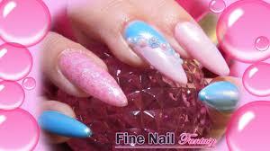 Bubble gum chrome nails! With pearl magic powder ! - YouTube