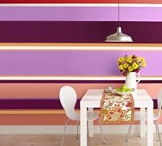 Horizontal Wallpaper Designs Energize Plain Walls By Painting Horizontal Stripes Around
