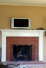Brick Fireplace Mantel White Stone Fireplace Mantel With Brick Stone Fireplace And Brown