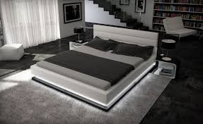 modern platform beds with lights. Fine Beds Modern Platform Bed With Lights Grey And Beds R