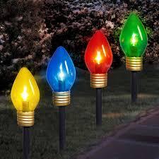C9 Lights Walmart Holiday Time Christmas Lights Jumbo C9 Lighted Lawn Stake 4