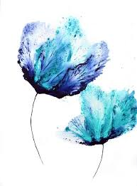 blue wall art large flower painting on paper 20 x 30 original floral art acrylic on cotton ragg paper in floral and flower paintings by catherine  on large blue flower wall art with blue wall art large flower painting on paper 20 x 30 original floral