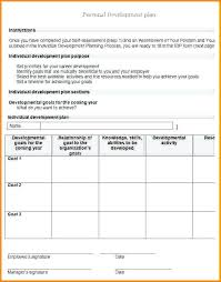 Professional Development Plan Template Free Individual Download Best ...