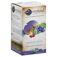 garden of life mykind organics multivitamin whole food prenatal multi vegan tablets