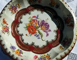 Daher Decorated Ware Tray Made In England DAHER DECORATED WARE METAL ROUND SERVING TRAY ENGLAND 60 inch 52