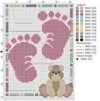 Ножки новорожденных вышивка