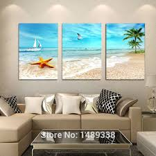 7887 1  on 3 panel wall art beach with 3 panel large beach canvas seascapes palm tree paintings 3 piece