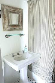 french ticking stripe curtains shower curtain red charming cottage black and cream jo