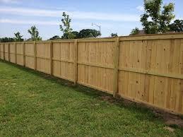 diy wood fence installation the wife very happy diy cedar fence fences greenery and rhcom revealing