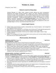 Logistics Management Sample Resume Senior Logistic Management Resume Logistics Executive In Sample 8