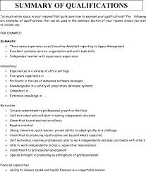 Resume Synopsis Example