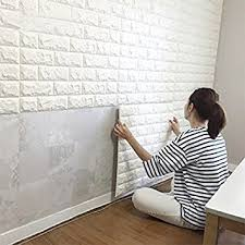 Amazoncom 10PCS 3D Brick Wall Stickers PE Foam Selfadhesive Removable Wall Adhesive