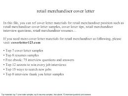 Associate Merchandiser Cover Letter Merchandiser Resume Cover Letter