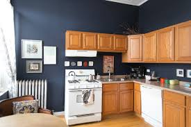 navy blue kitchen walls design ideas this deal with honey oak cabis paint the colors and