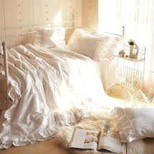 ruffle duvet cover bed bath and beyond white ruffle bedding set comforter from bed bath