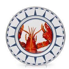 Lobster Enamel Dinner Plates ...