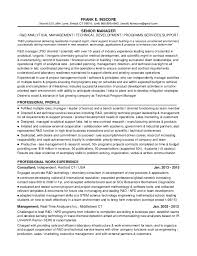 Senior Manager Resume Simple 48b48 Fei Resume Rd Sr Manager 20485