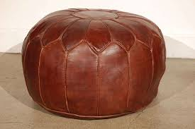 moroccan large leather pouf in excellent condition for in los angeles ca