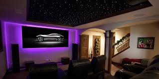 Home Ambient Lighting 7 Series Zero Edge Residential Projection Screen Uses Ambient Light Rejecting Black Diamond Technology Home Lighting
