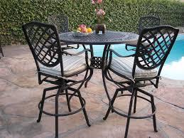 aluminum outdoor patio bar table