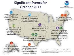 Official Month Designations National Climate Report October 2013 State Of The