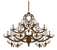 Licht Kronleuchter Zeichnung Silhouette Vektor Braun Lampe