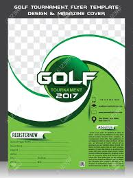 Golf Tournament Flyer Template Golf Tournament Flyer Template Design Magazine Cover Vector