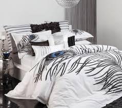 the gallerie logan maison yolanda white quilt cover set s intended for peacock feather comforter prepare 1