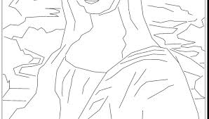 Mona Lisa Coloring Page Beautiful Renaissance With Pages For Adults