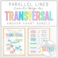 Interior Angles Chart Transversals Angle Relationships Posters Math Anchor Charts