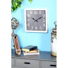wall clocks turquoise wall clock chip modern square main large