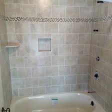 interior tub shower combo ideas surrounded full tile wall decor glass bathtub good staggering 10