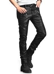 yonex black stretch faux leather jeans loading zoom