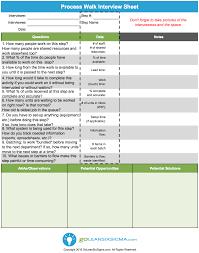 process walk interview sheet aka gemba walk interview sheet process walk interview sheet aka gemba walk interview sheet