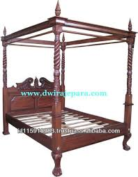 Classic Furniture Mahogany Four Poster Canopy Bed - Antique ...