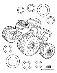 Blaze And The Monster Machines Coloring Pages Birthday Coloring