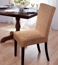 damask stretch velvet dining chair cover beige available in 4 colors