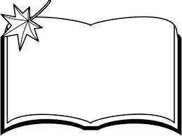 読書の秋もみじと本の白黒フレーム飾り枠イラスト 無料イラスト